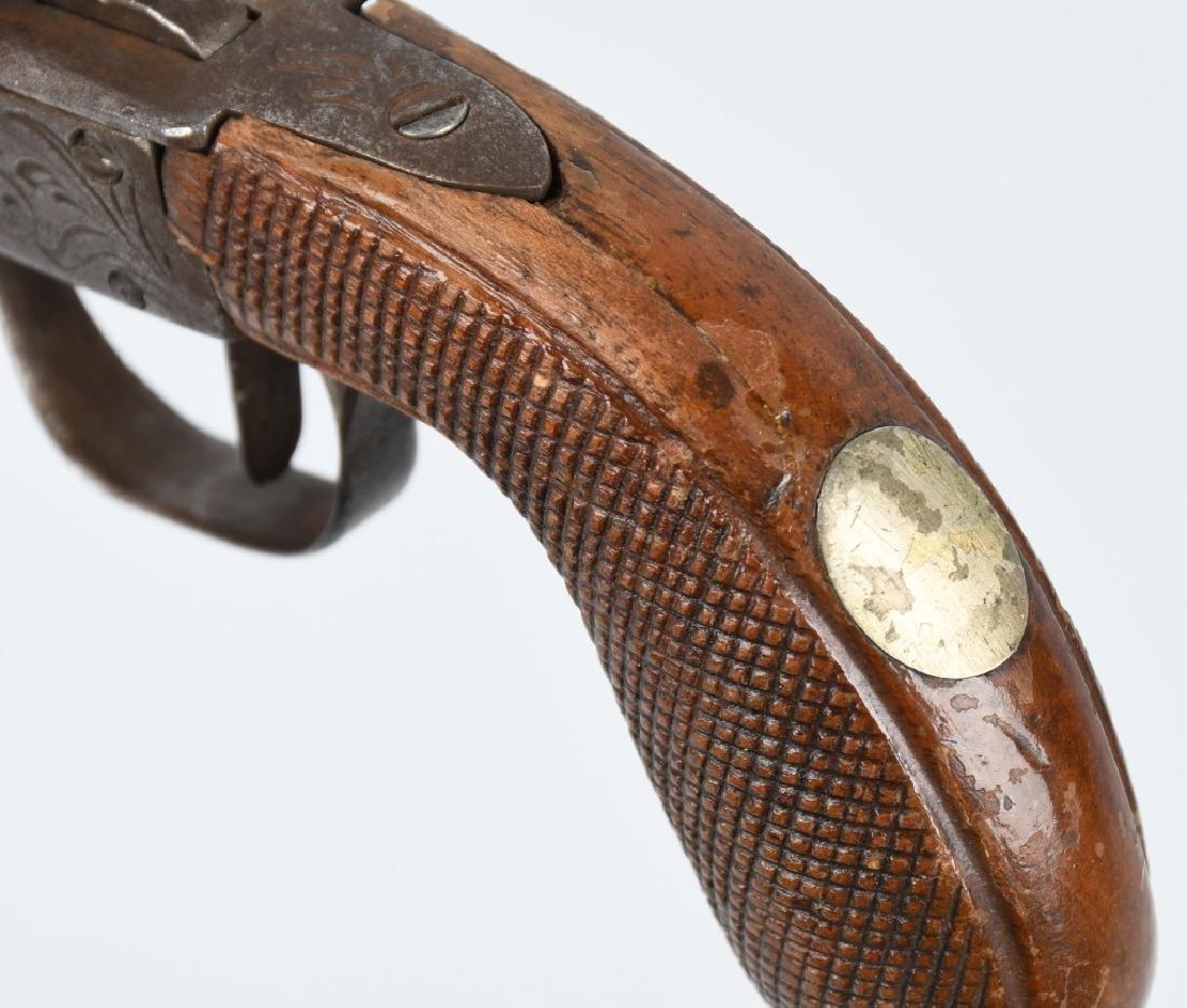 ENGLISH 1850's SCREW BARREL .45 PERCUSSION PISTOL - 5