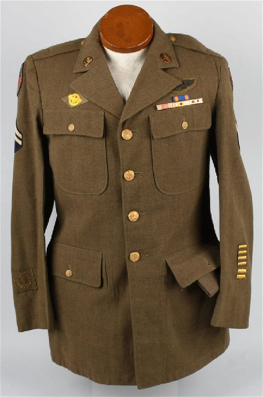WWII US CBI ARMY AIR CORPS JACKET, BULLION PATCHES
