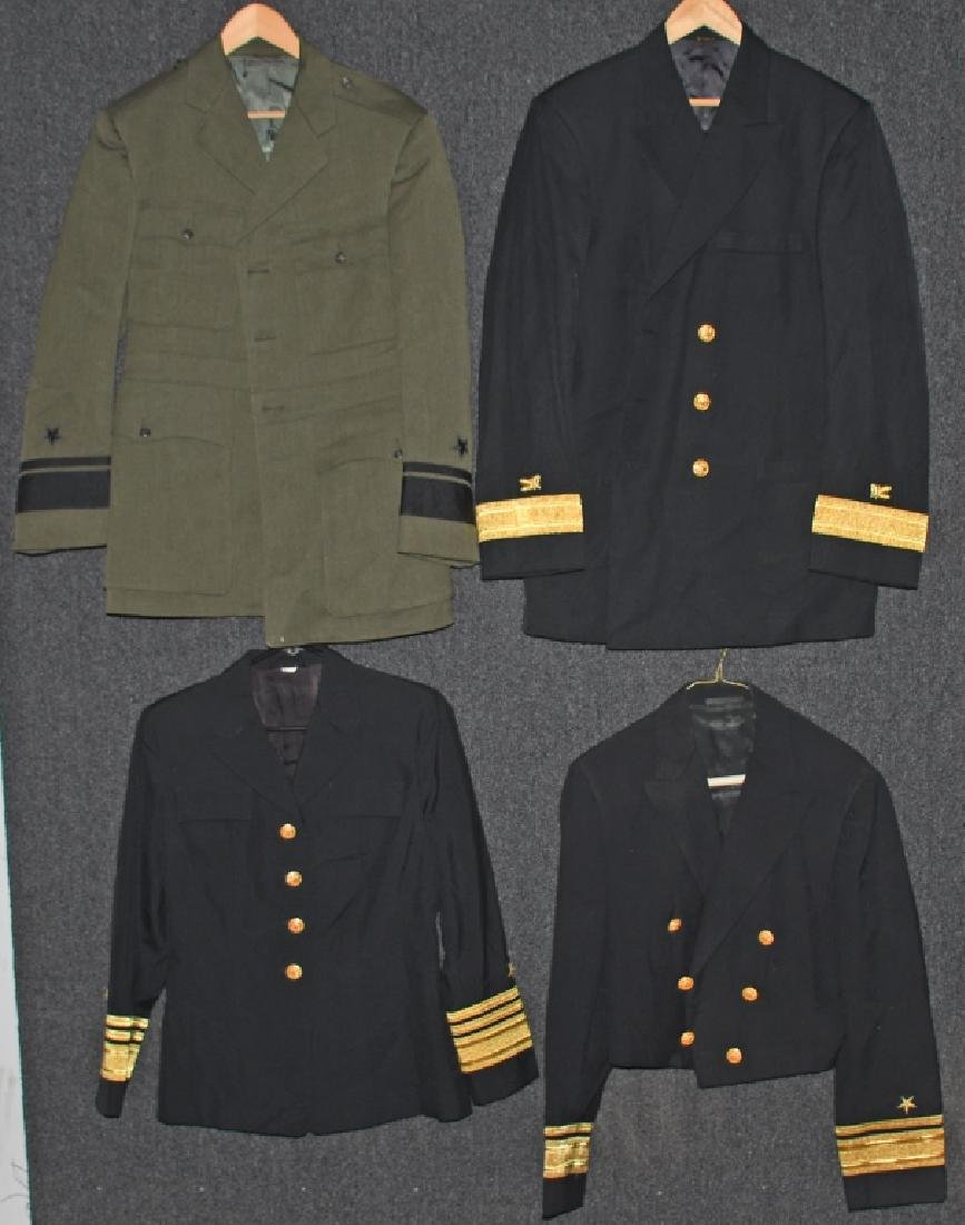 US LOT OF 4 NAVY ADMIRAL UNIFORMS