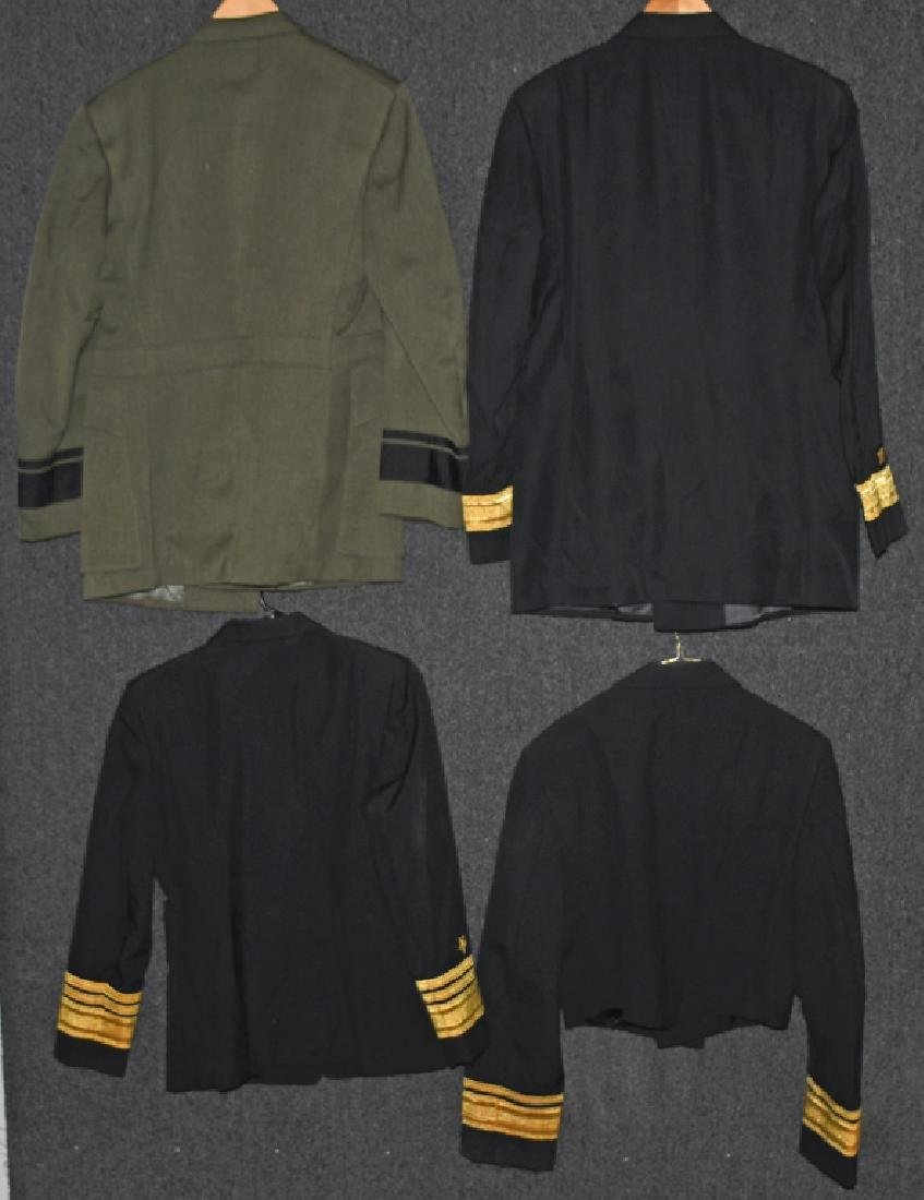 US LOT OF 4 NAVY ADMIRAL UNIFORMS - 4