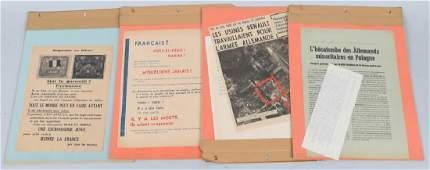 WWII FRENCH POLITICAL  PROPAGANDA BROADSIDES 8