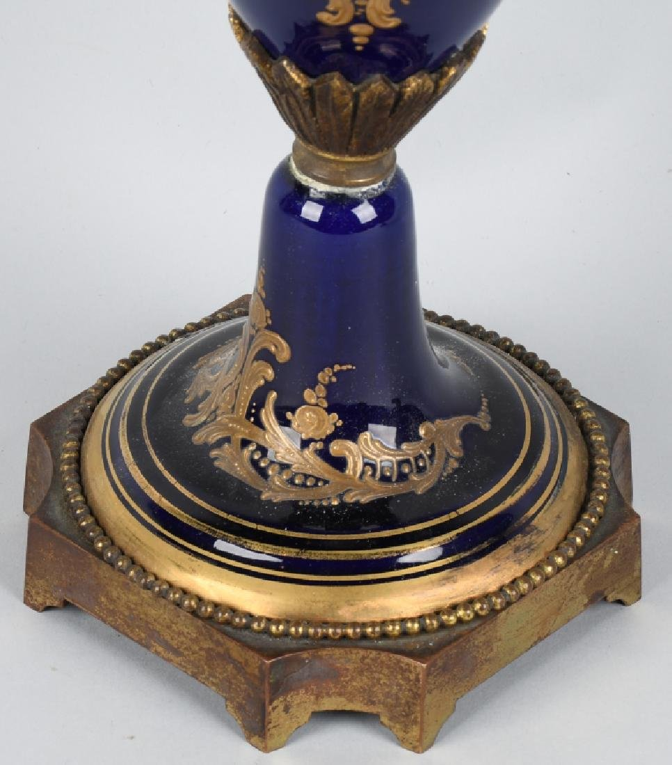 2-19TH CENTURY HAND PAINTED SEVRES URNS - 5