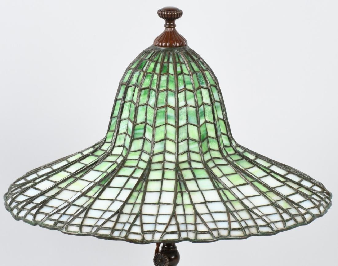 TIFFANY STUDIOS LOTUS LEADED TABLE LAMP - 2