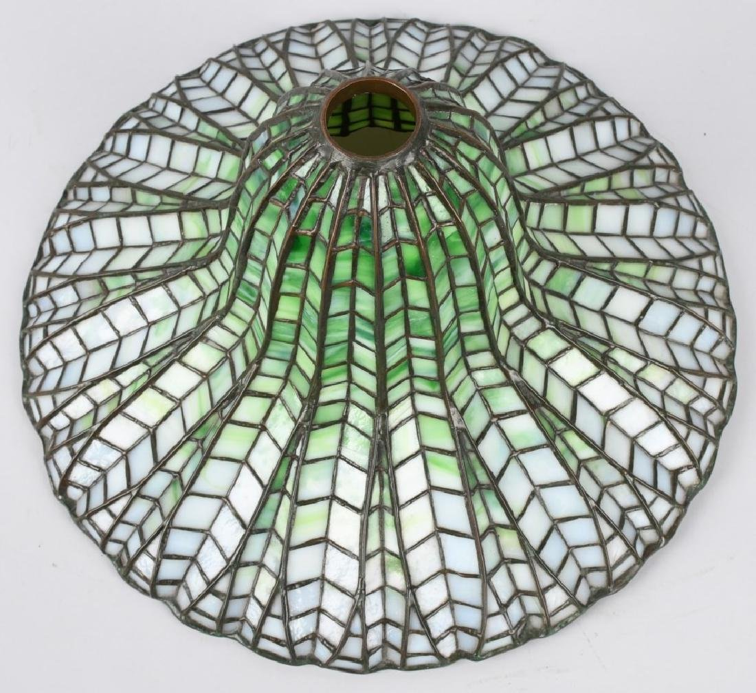 TIFFANY STUDIOS LOTUS LEADED TABLE LAMP - 5