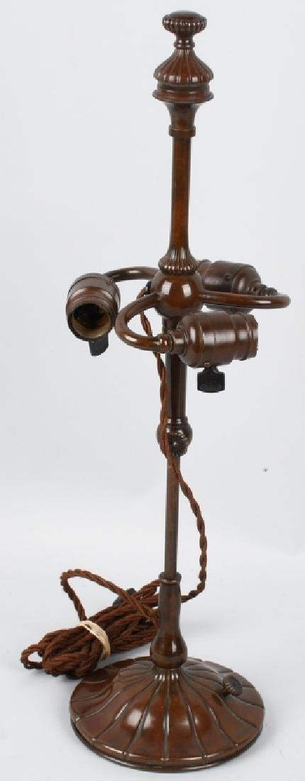TIFFANY STUDIOS LOTUS LEADED TABLE LAMP - 8