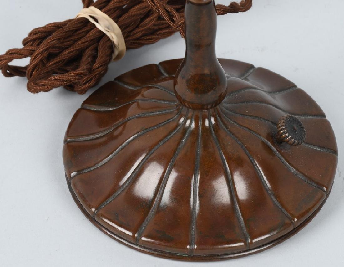 TIFFANY STUDIOS LOTUS LEADED TABLE LAMP - 9