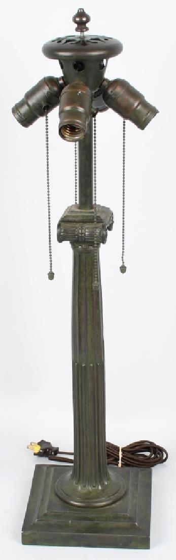 DUFFNER & KIMBERLY PEACOCK LEADED TABLE LAMP - 9