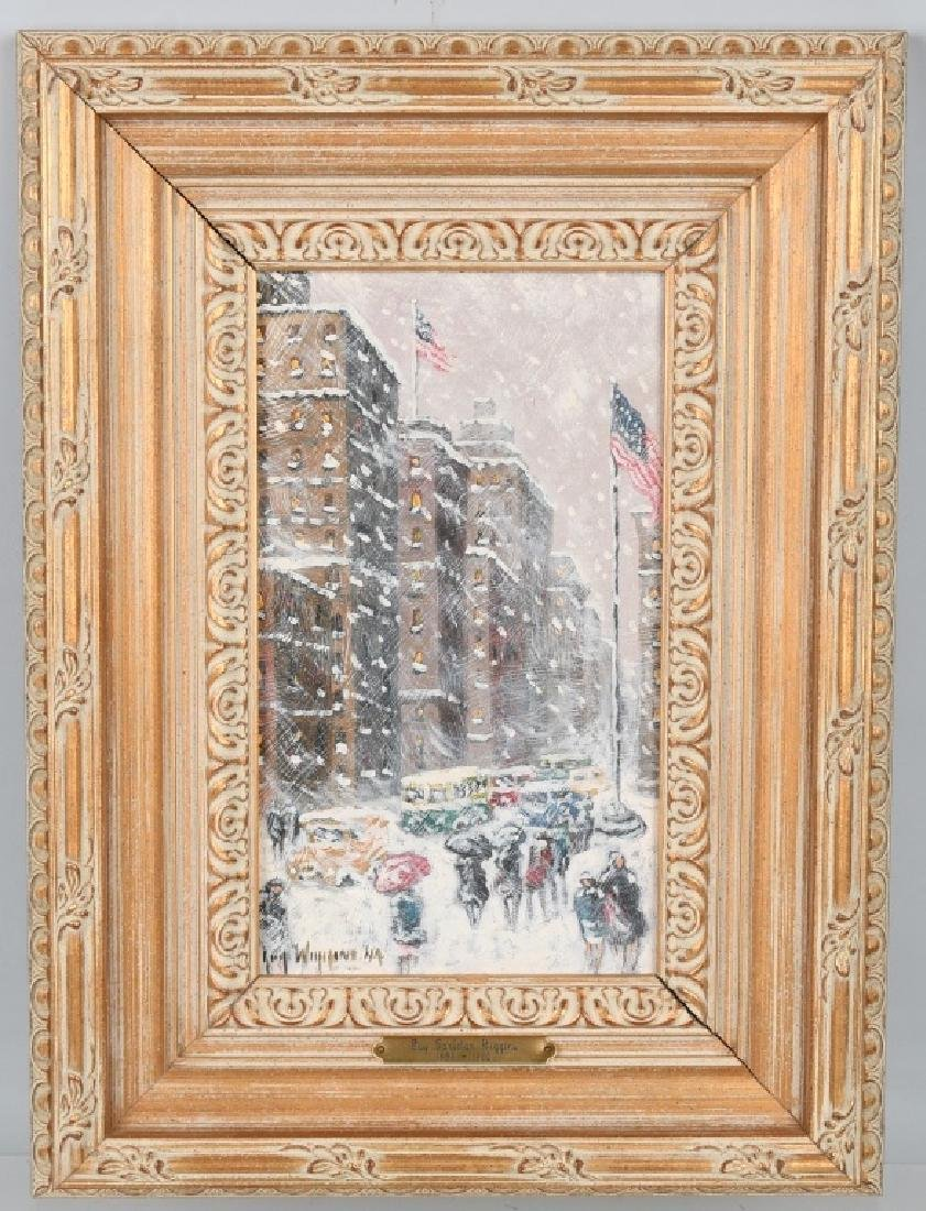 """GUY CARLETON WIGGINS """"5th Ave & 26th St"""" PAINTING"""