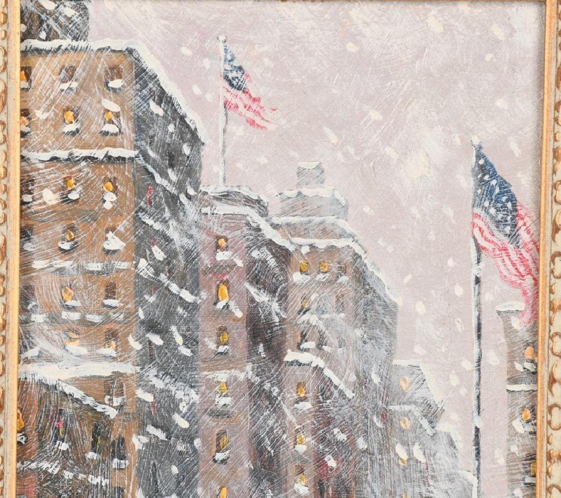 """GUY CARLETON WIGGINS """"5th Ave & 26th St"""" PAINTING - 3"""