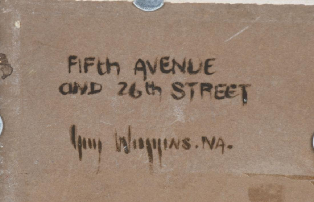 """GUY CARLETON WIGGINS """"5th Ave & 26th St"""" PAINTING - 6"""