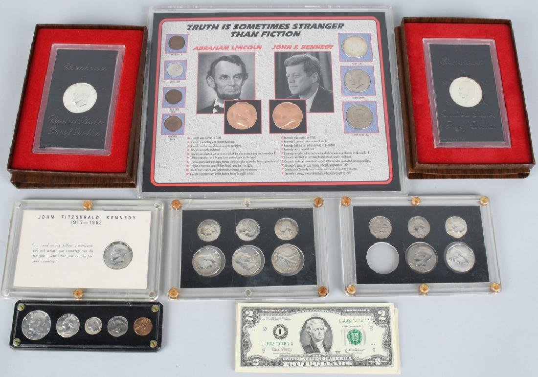 COLLECTOR LOT OF US COINS & PAPER MONEY