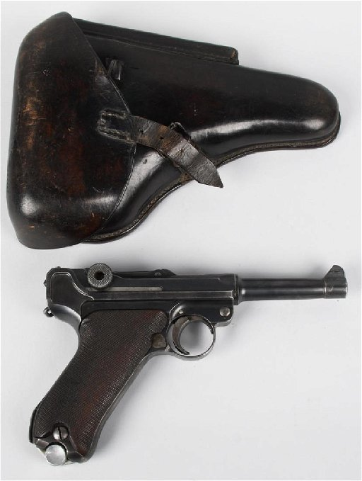 GERMAN LUGER, MARINE, PRUSSIAN POLICE MARKED, 1920