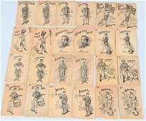 UNION ARMY CIVIL WAR MATCHING CARD GAME SET