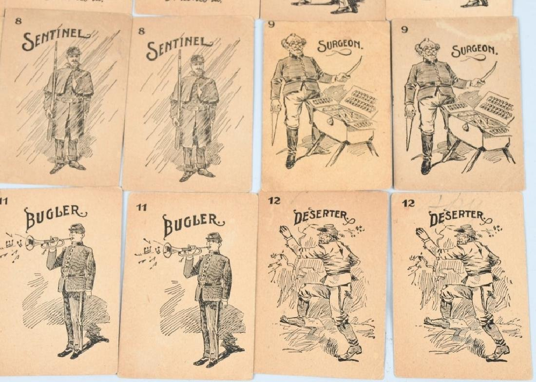 UNION ARMY CIVIL WAR MATCHING CARD GAME SET - 4