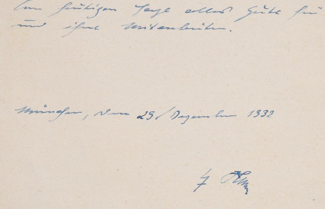 1932 ADOLF HITLER PHOTO CARD & SIGNED LETTER - 5
