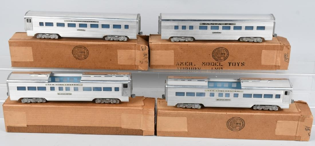 4 - AMERICAN MODEL TRAIN CARS O-GAUGE