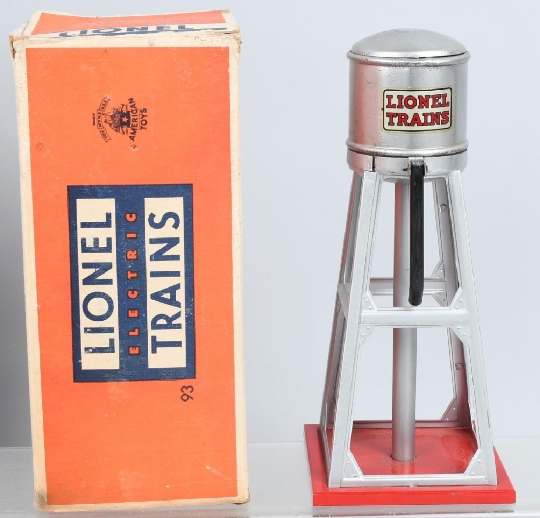 2- PREWAR LIONEL 93 WATER TOWER w/ BOX O GAUGE - 2