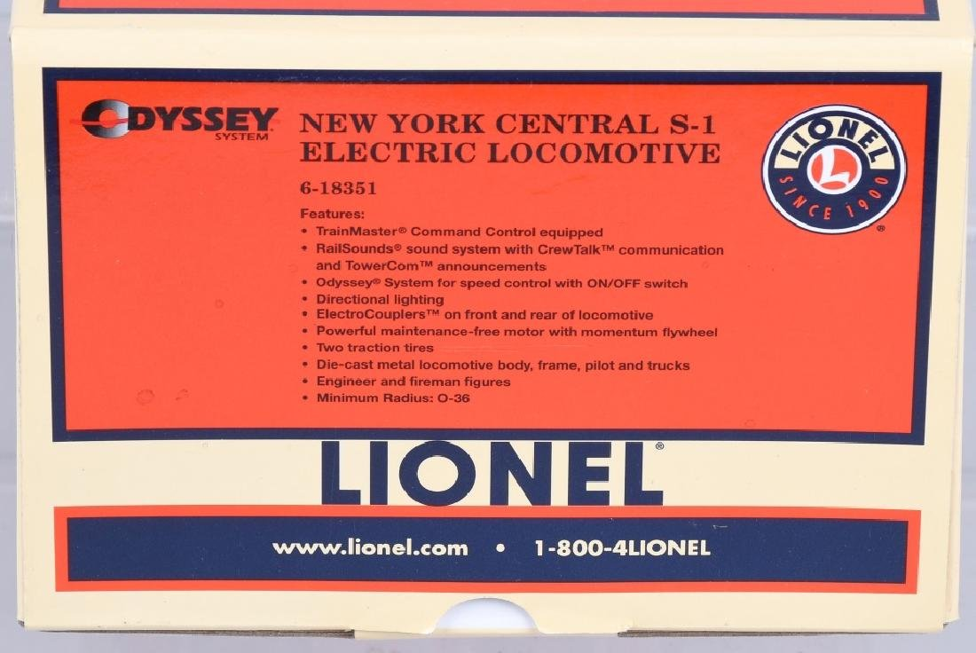 LIONEL O GAUGE NYC S-1 ELECTRIC LOCOMOTIVE 6-18351 - 5