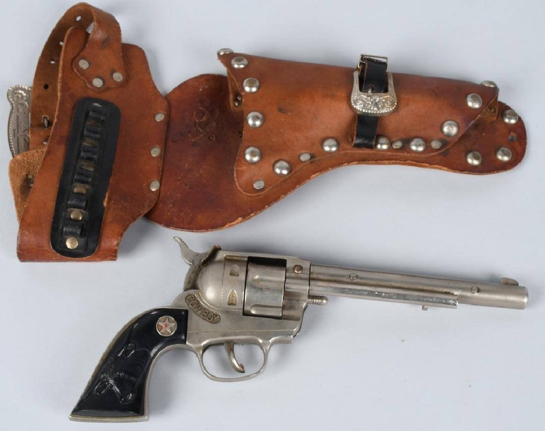 3- VINTAGE CAP GUNS & HOLSTERS - 2