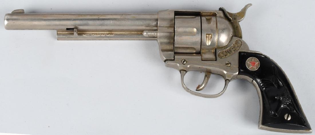 3- VINTAGE CAP GUNS & HOLSTERS - 3