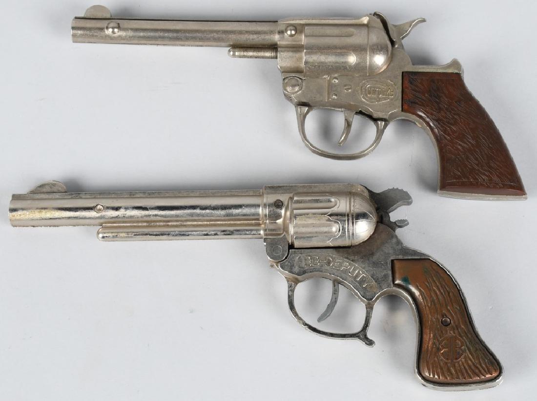3- VINTAGE CAP GUNS & HOLSTERS - 4
