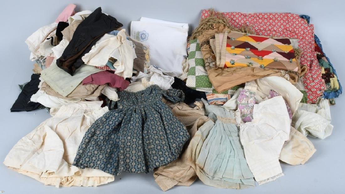 LARGE VINTAGE LOT of DOLL CLOTHES & MORE