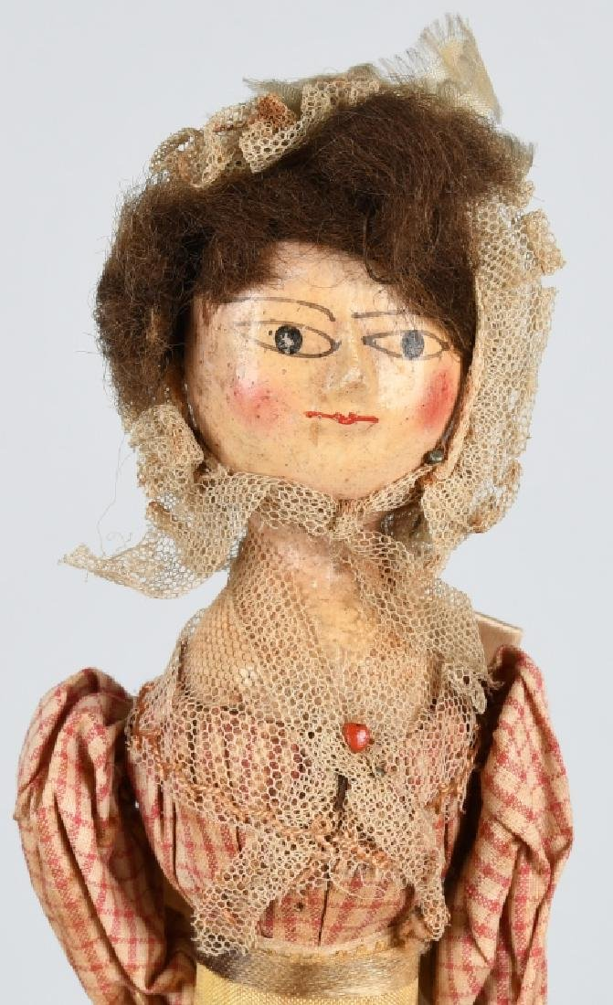 2-EARLY WOODEN DOLLS - 2
