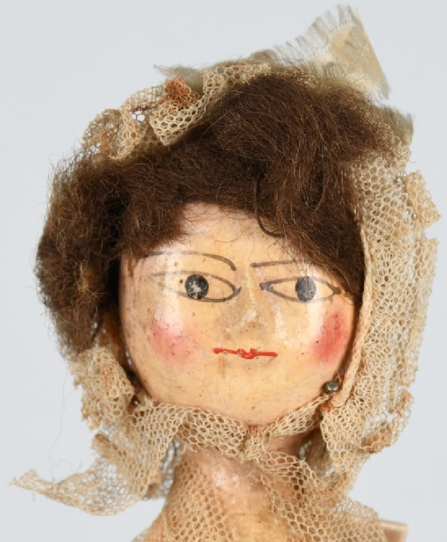 2-EARLY WOODEN DOLLS - 3