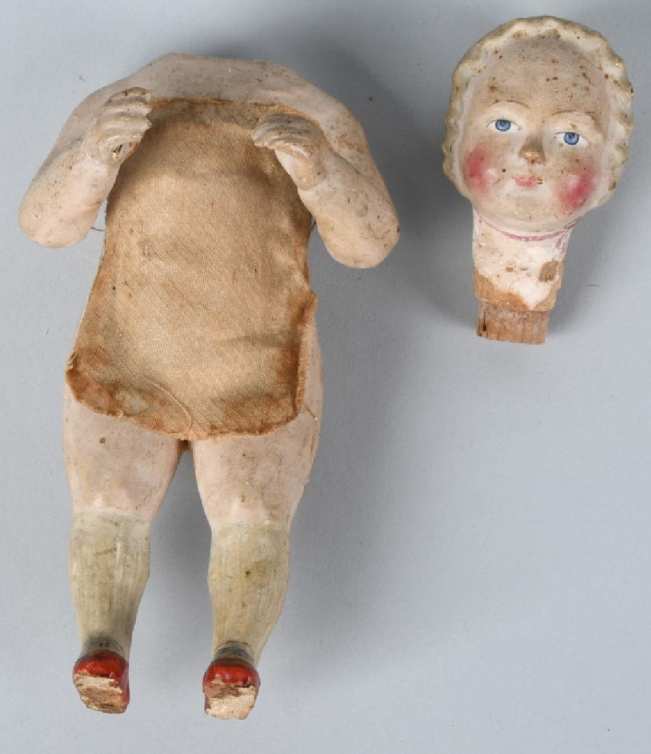 4-EARLY WOOD & COMPOSITION DOLLS - 7