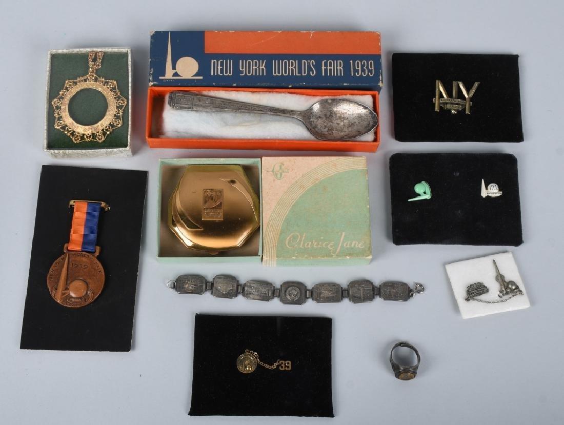10- 1939 NEW YORK WORLDS FAIR SOUVENIRS