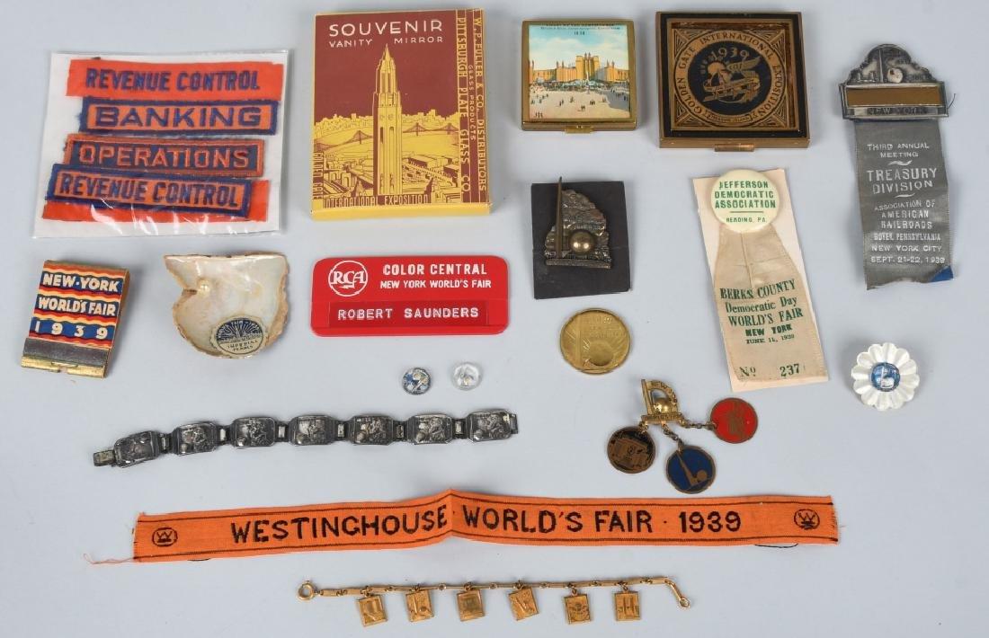 1939 NEW YORK WORLDS FAIR ITEMS