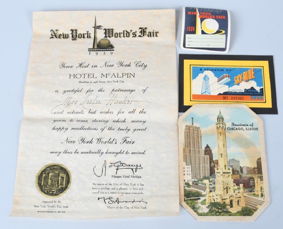 1939 NEW YORK WORLDS FAIR EPHEMERA - 2