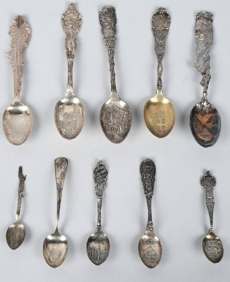 10- WORLDS FAIR STERLING SILVER SPOONS