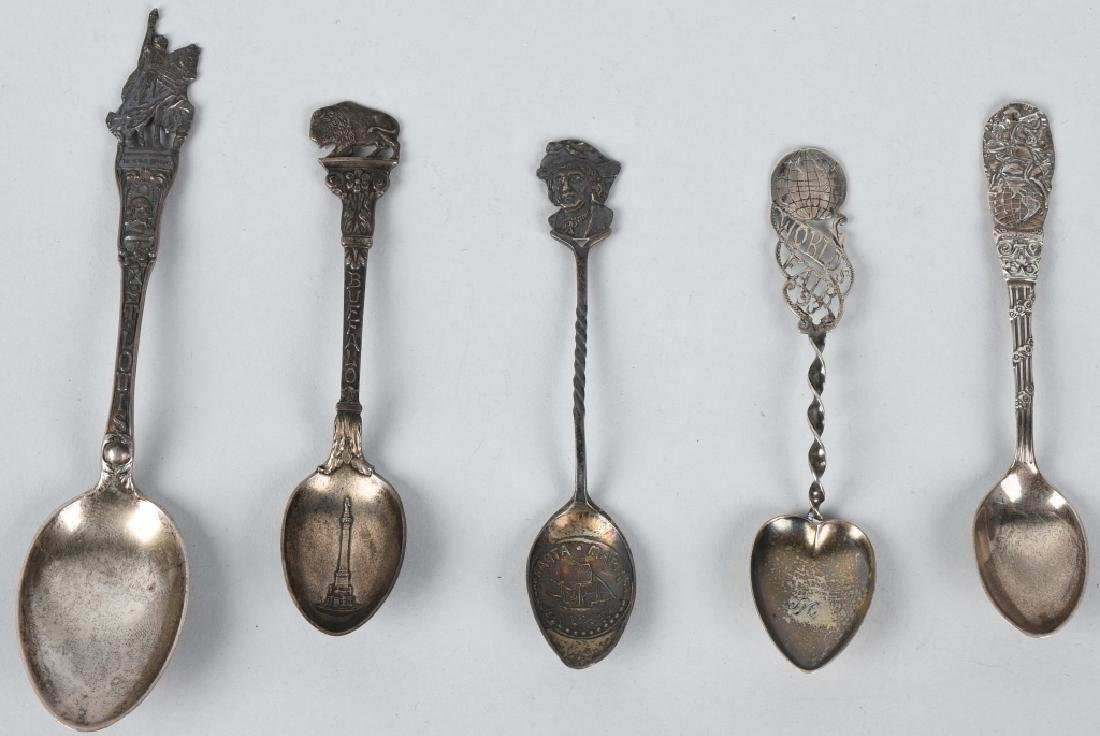 10- WORLDS FAIR STERLING SILVER SPOONS - 3