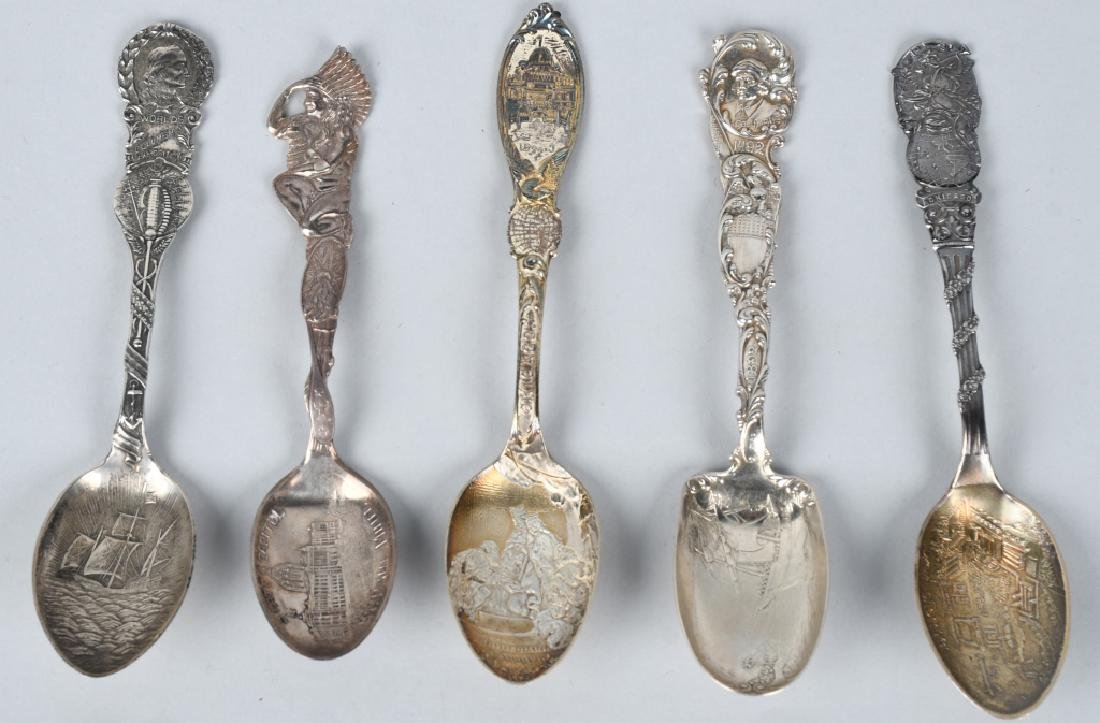 10- WORLDS FAIR STERLING SILVER SPOONS - 2