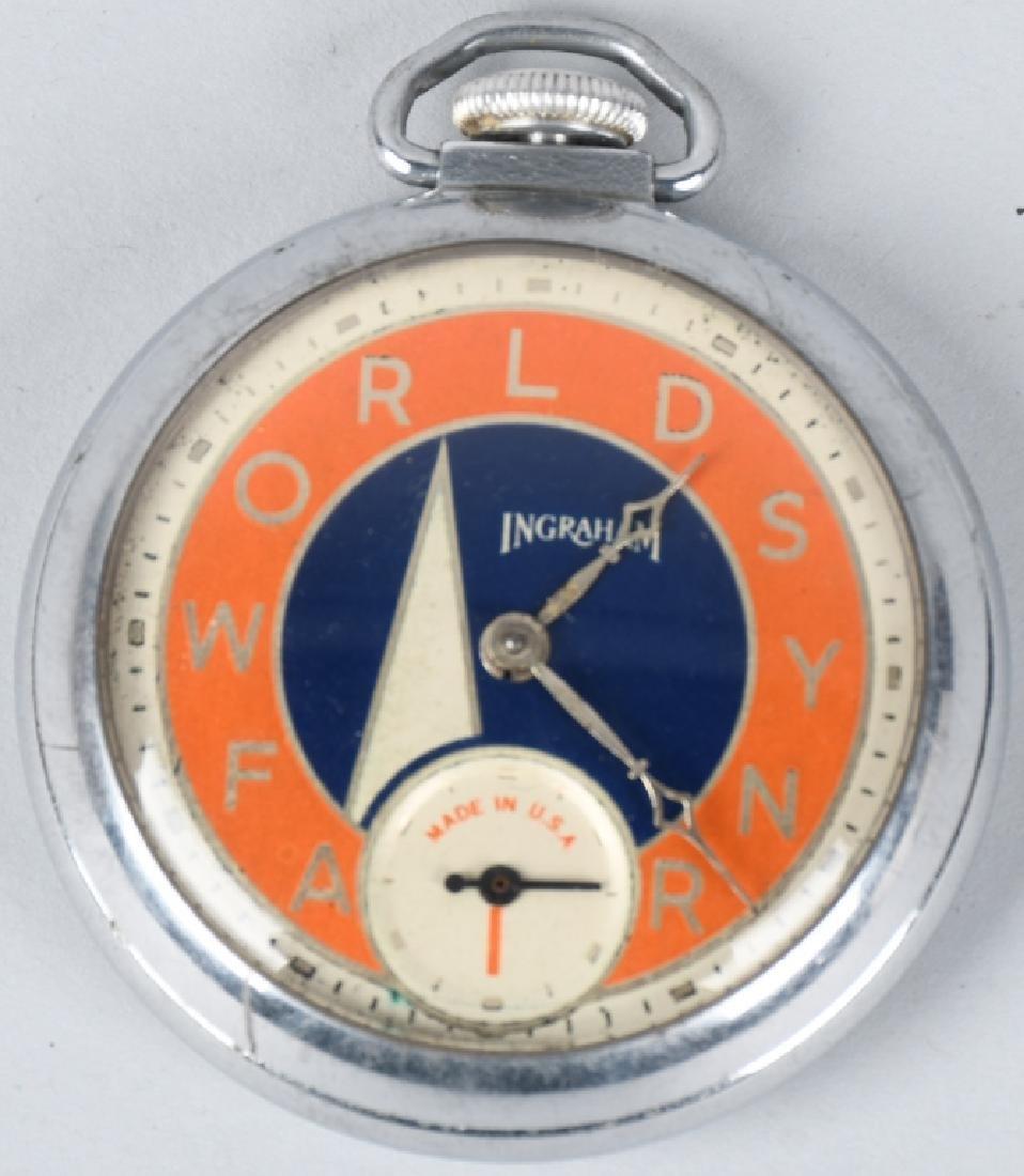 1939 NEW YORK WORLDS FAIR POCKET WATCH
