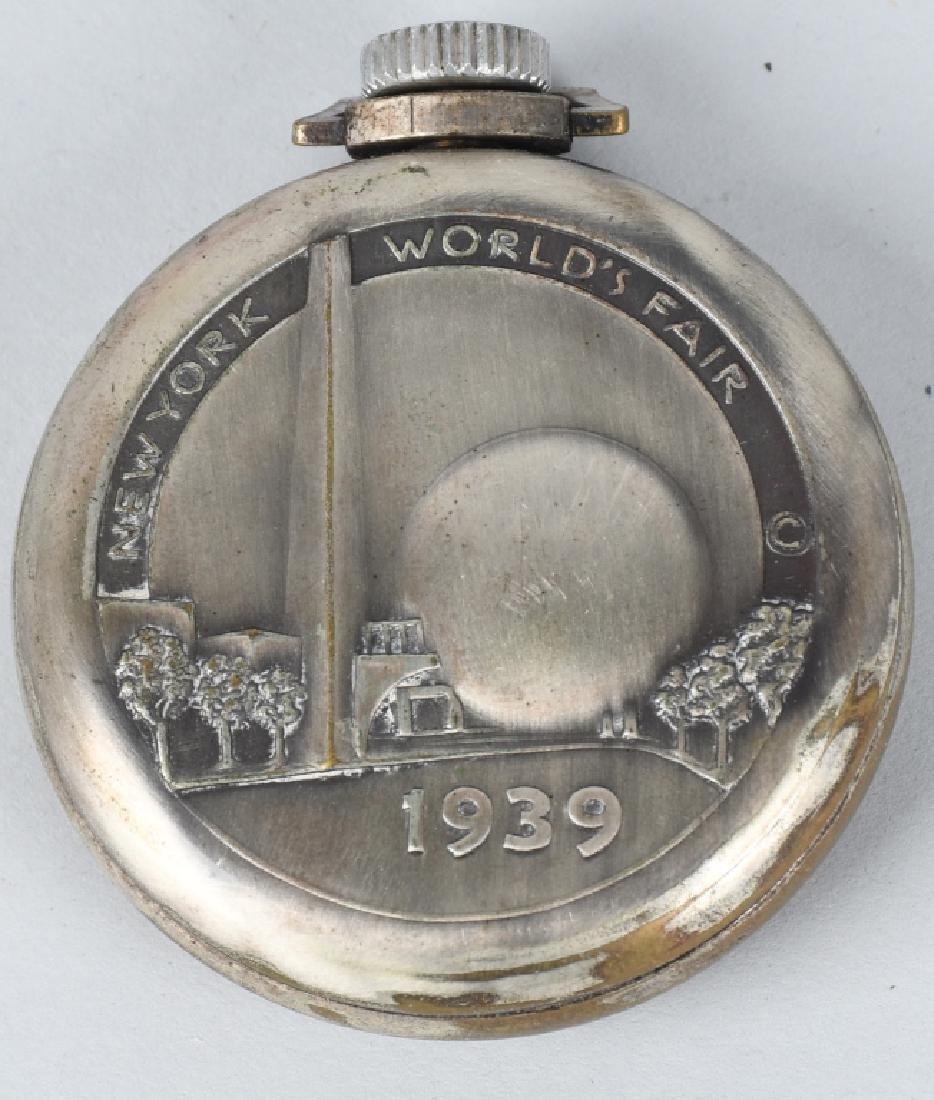 1939 NEW YORK WORLDS FAIR POCKET WATCH - 3