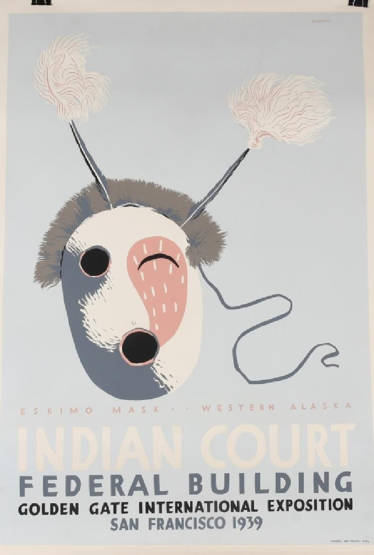 8- 1939 SAN FRANCISCO INDIAN COURT POSTERS