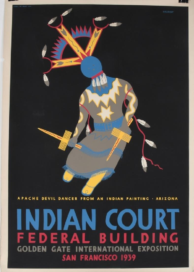 8- 1939 SAN FRANCISCO INDIAN COURT POSTERS - 2