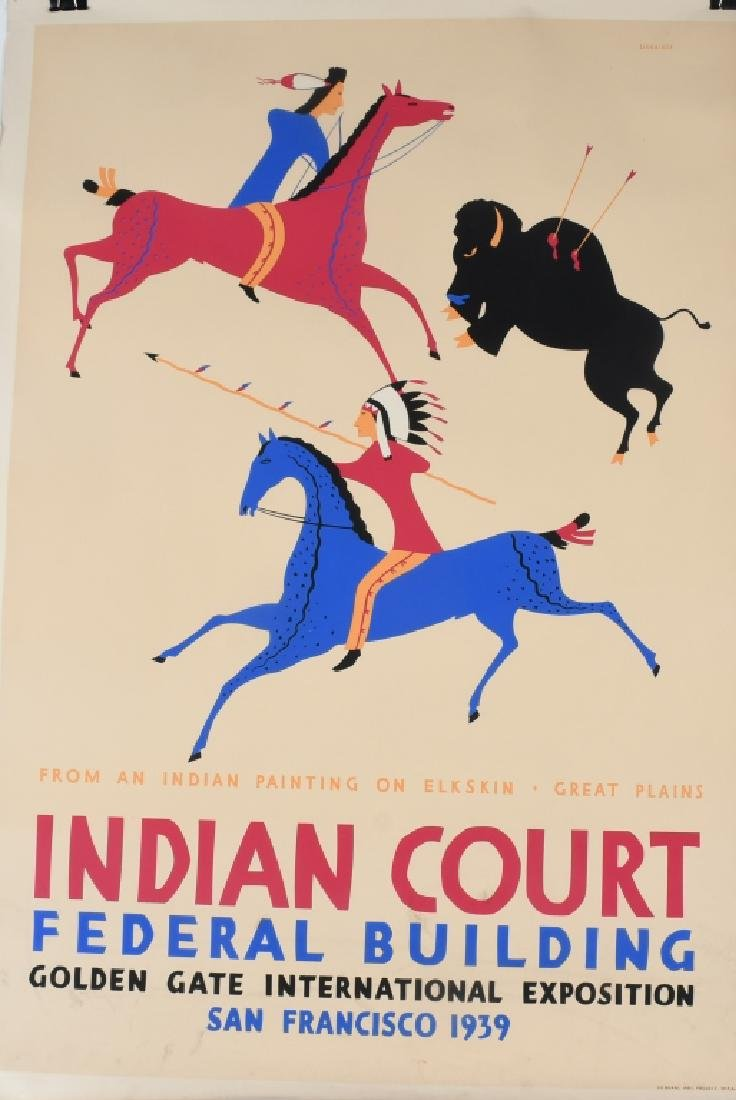 8- 1939 SAN FRANCISCO INDIAN COURT POSTERS - 3