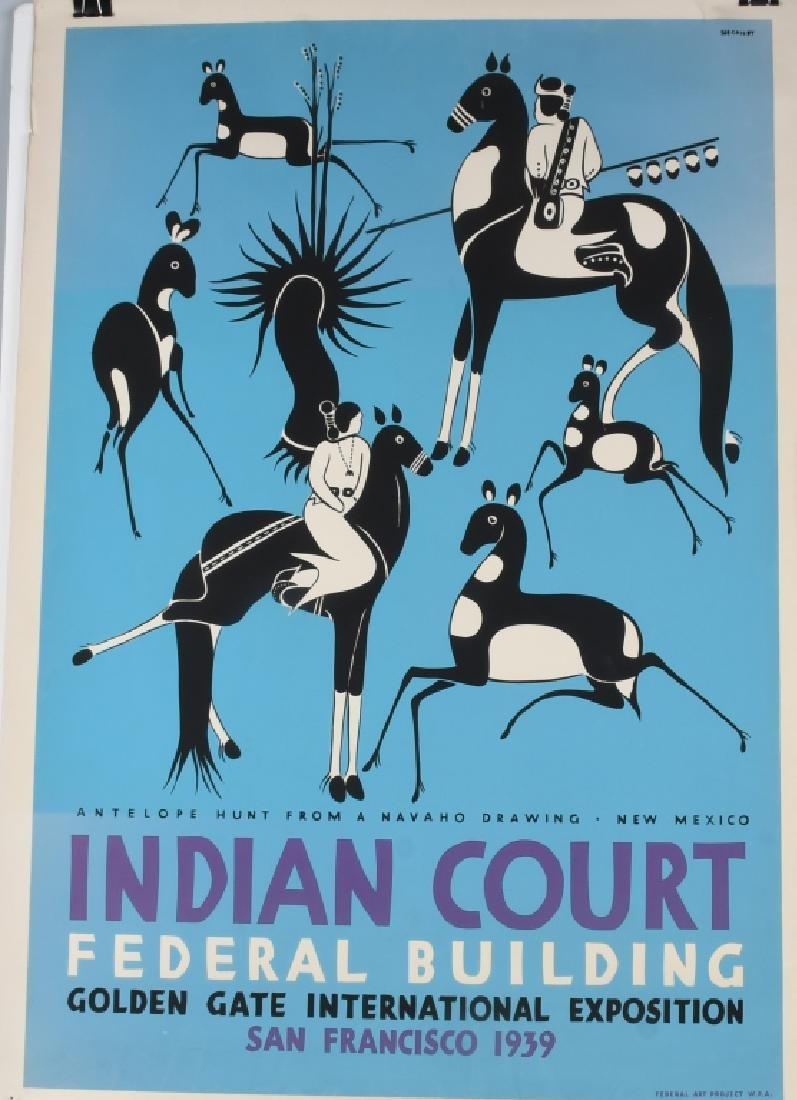 8- 1939 SAN FRANCISCO INDIAN COURT POSTERS - 4