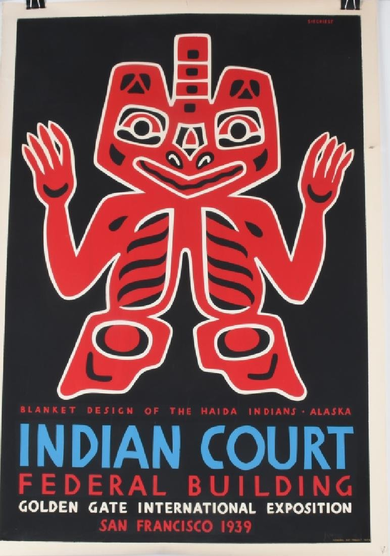 8- 1939 SAN FRANCISCO INDIAN COURT POSTERS - 5