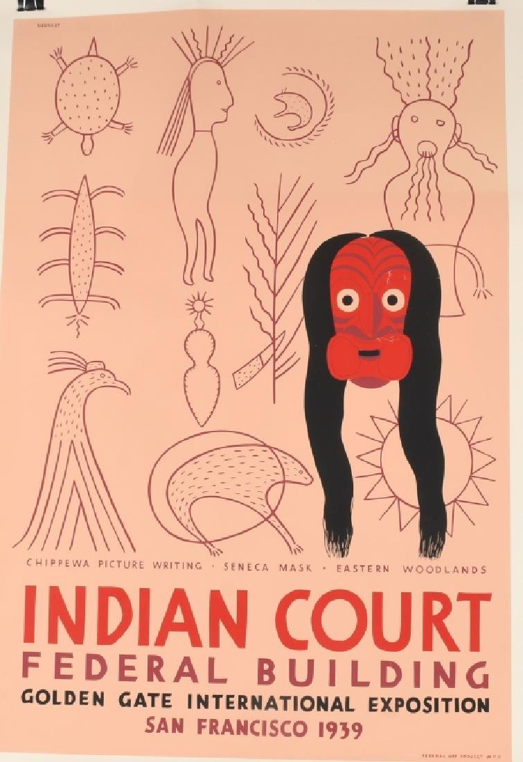 8- 1939 SAN FRANCISCO INDIAN COURT POSTERS - 6