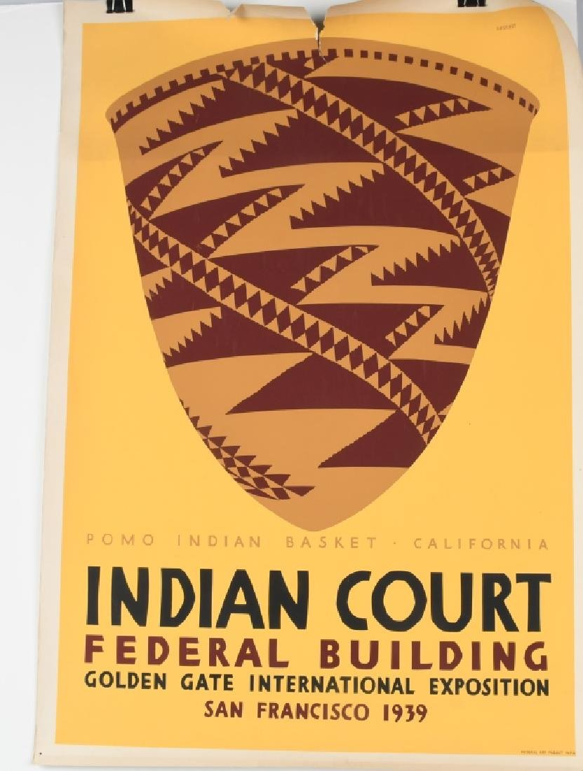 8- 1939 SAN FRANCISCO INDIAN COURT POSTERS - 7