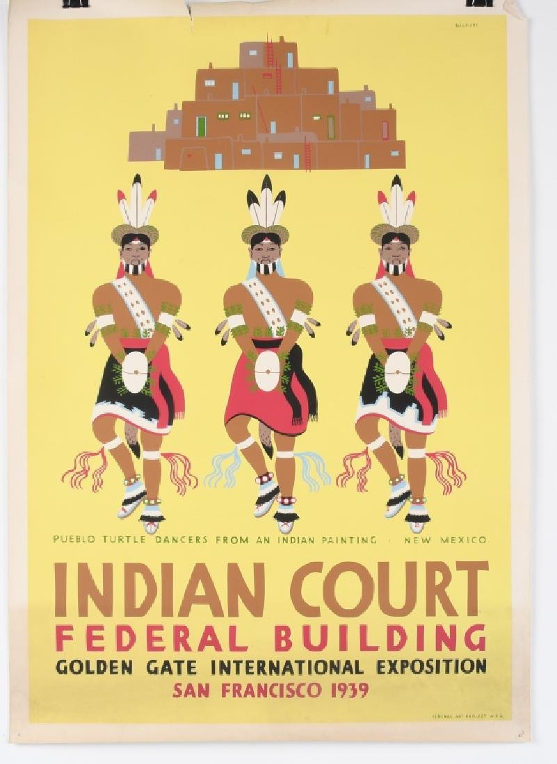 8- 1939 SAN FRANCISCO INDIAN COURT POSTERS - 8