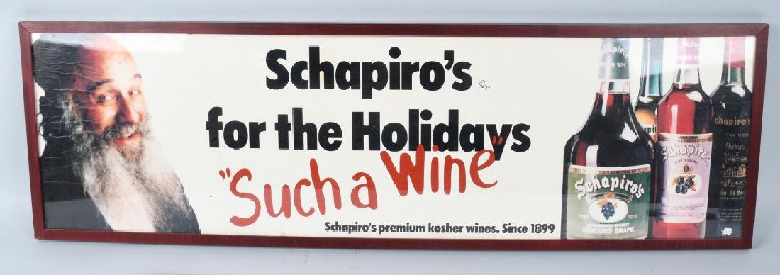 SCHAPIRO'S KOSHER WINE ADVERTISING SIGN