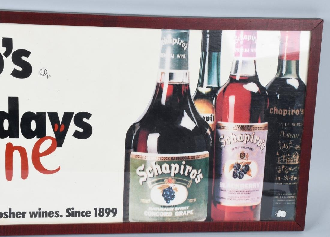 SCHAPIRO'S KOSHER WINE ADVERTISING SIGN - 4