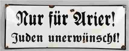 WWII NAZI GERMAN NUREMBURG LAW ANTISEMITIC SIGN