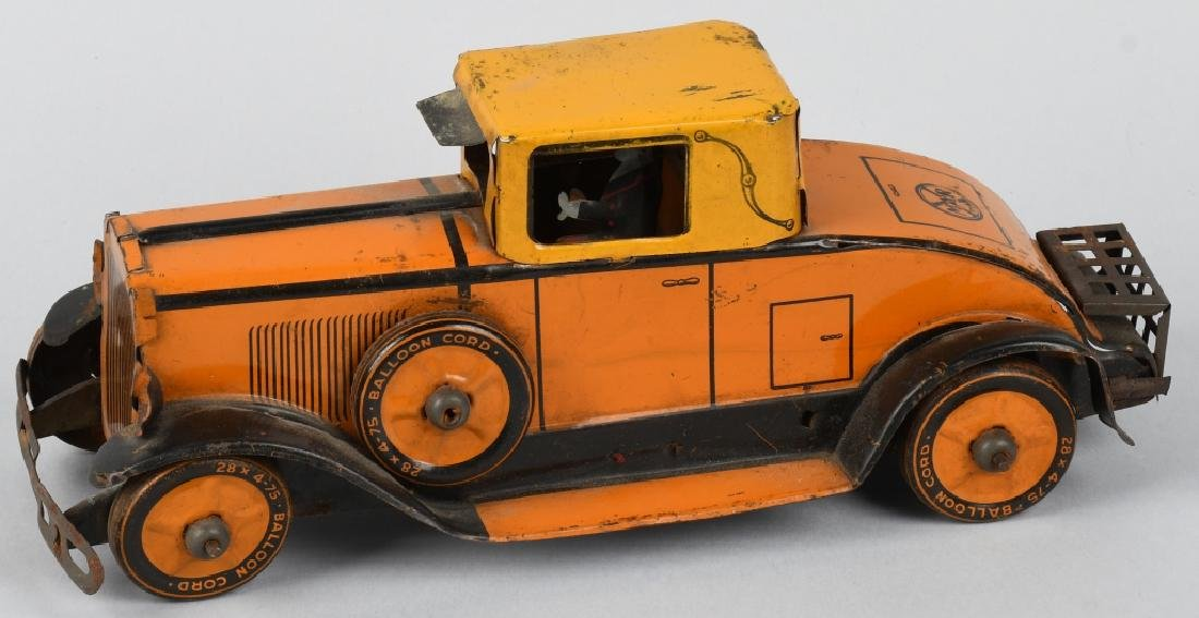 MARX 1930's tin windup CADILLAC COUPE