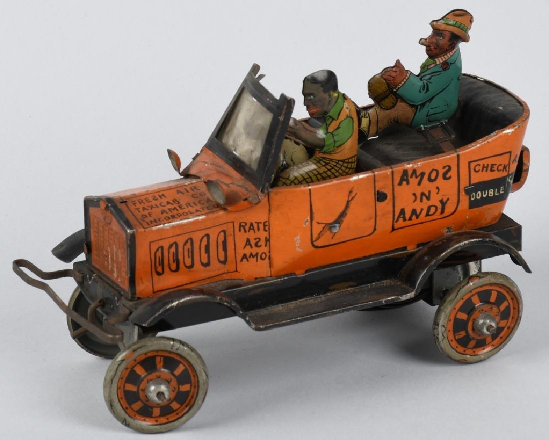 MARX 1930's tin windup AMOS and ANDY TAXI